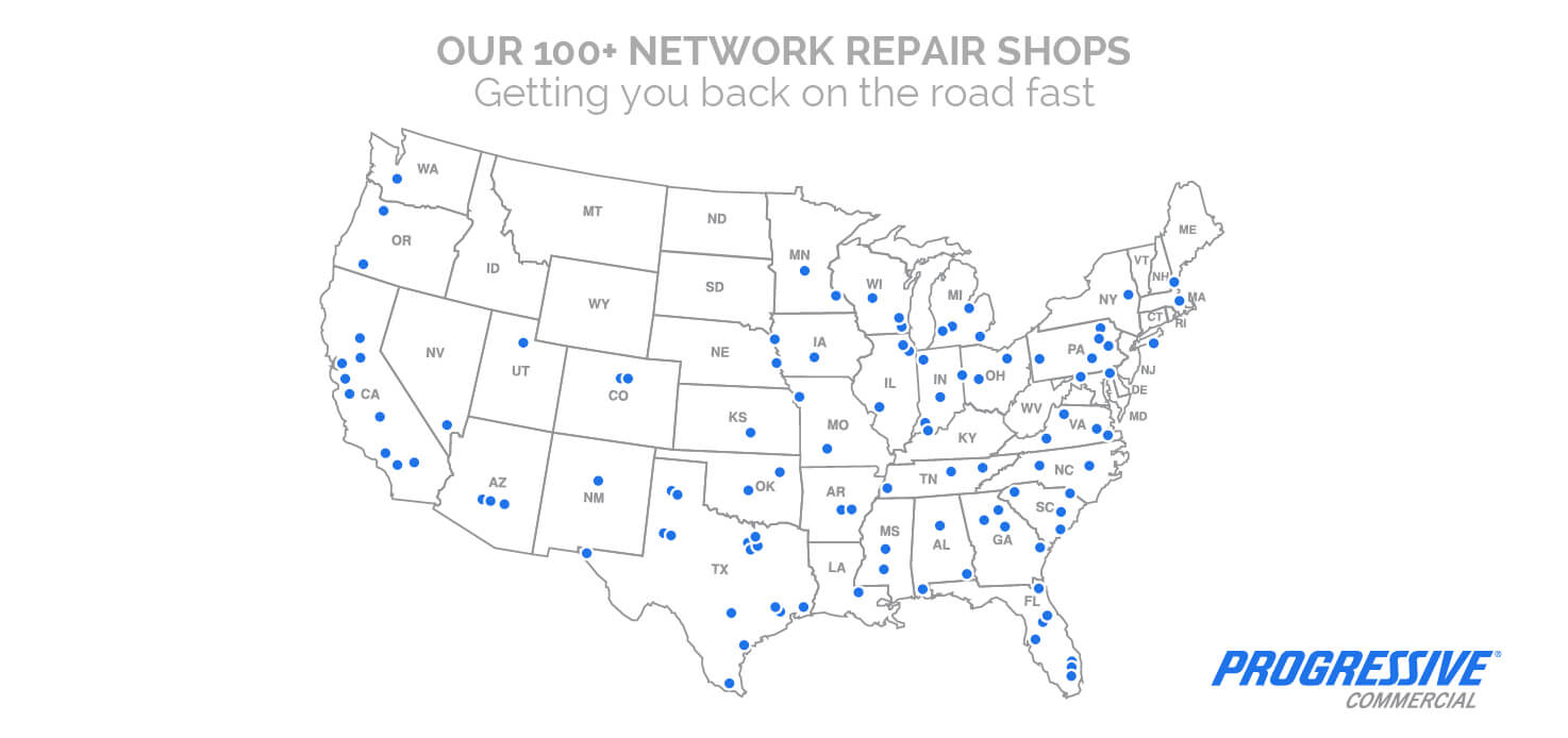Location of Repair Shops