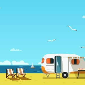 RV Camping on the beach