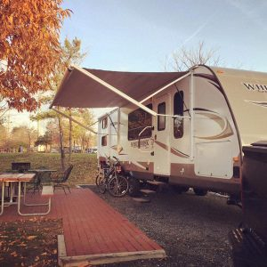 RV camping in cooler temperatures