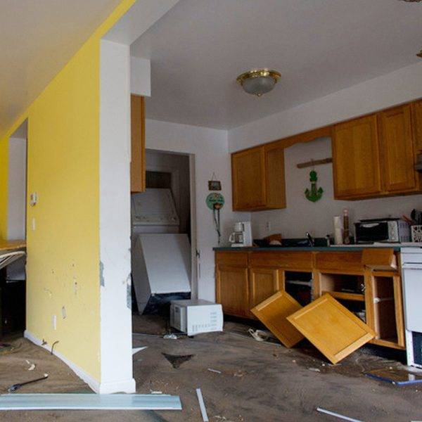 Remodeling after water damage