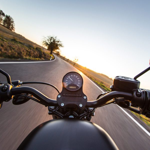motorcycle on the open road
