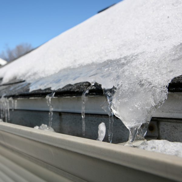 gutters with ice
