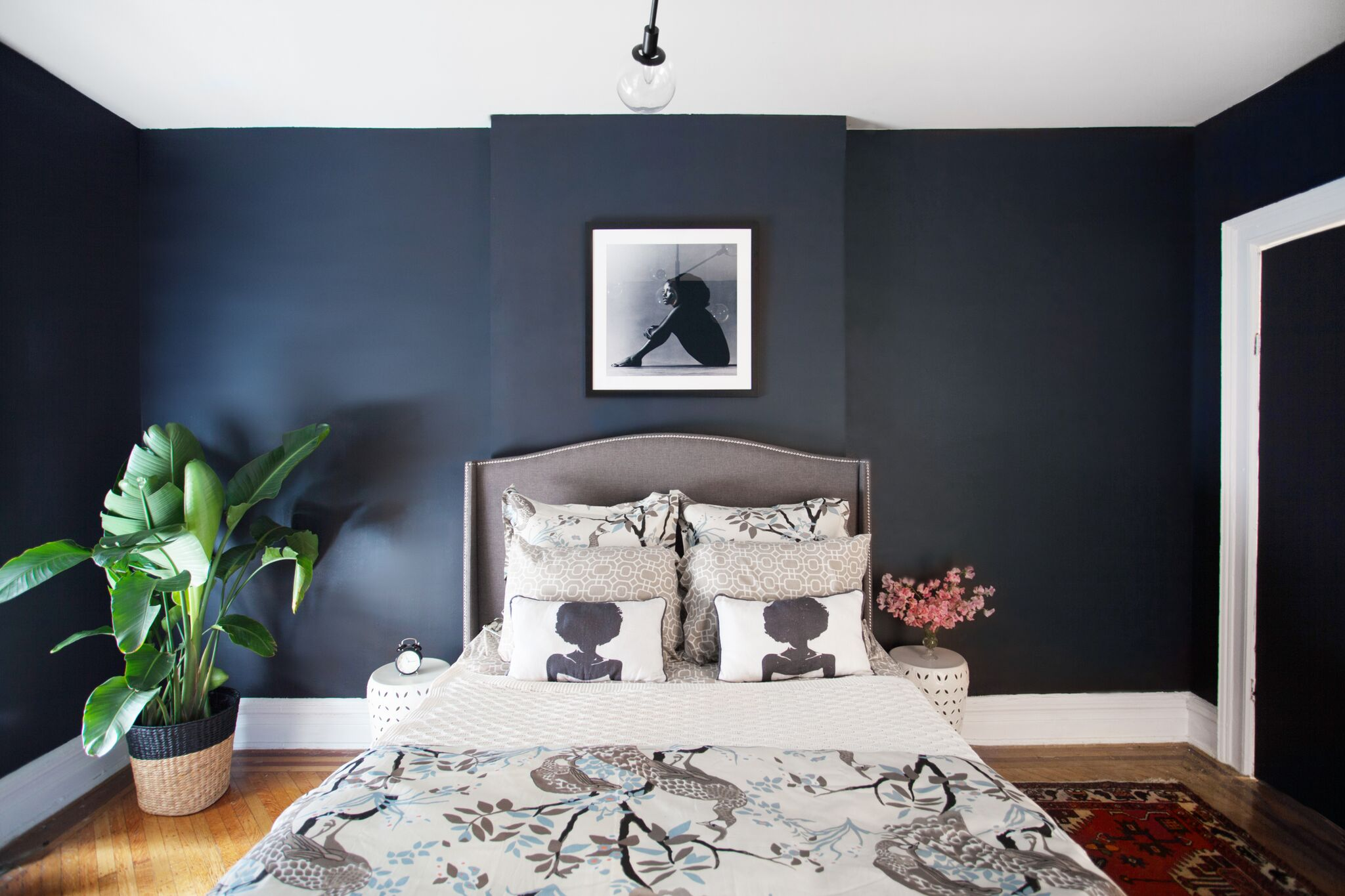 black paint in bedroom
