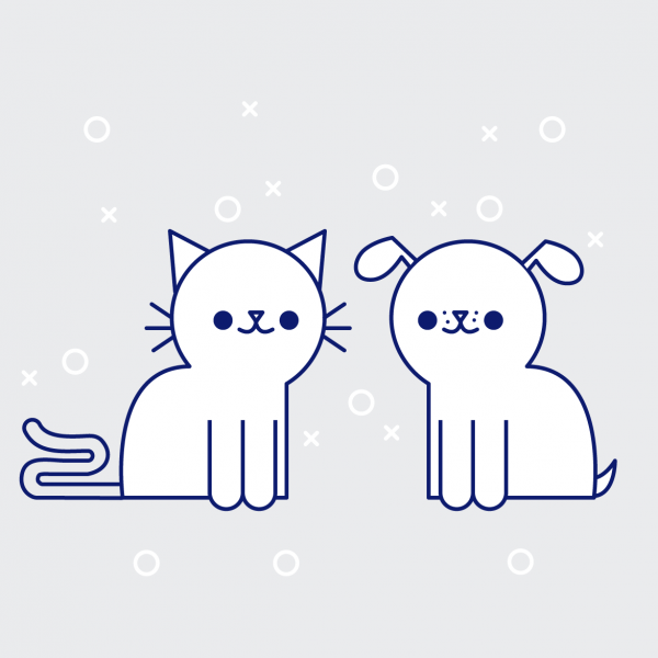 illustration of cat and dog