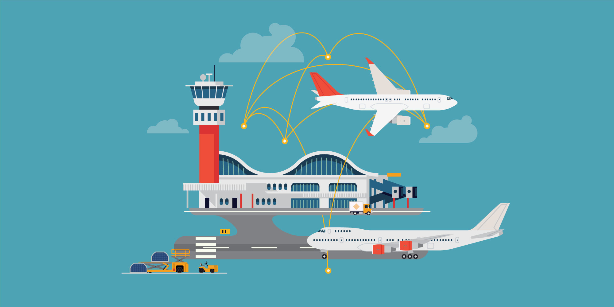 illustration of airport