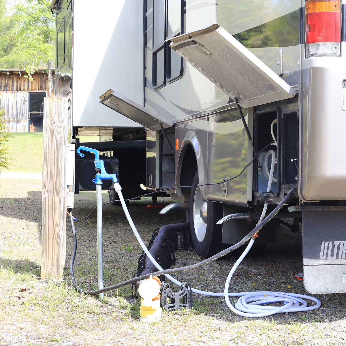 Permanent rv sewer hook up