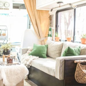 living room in RV