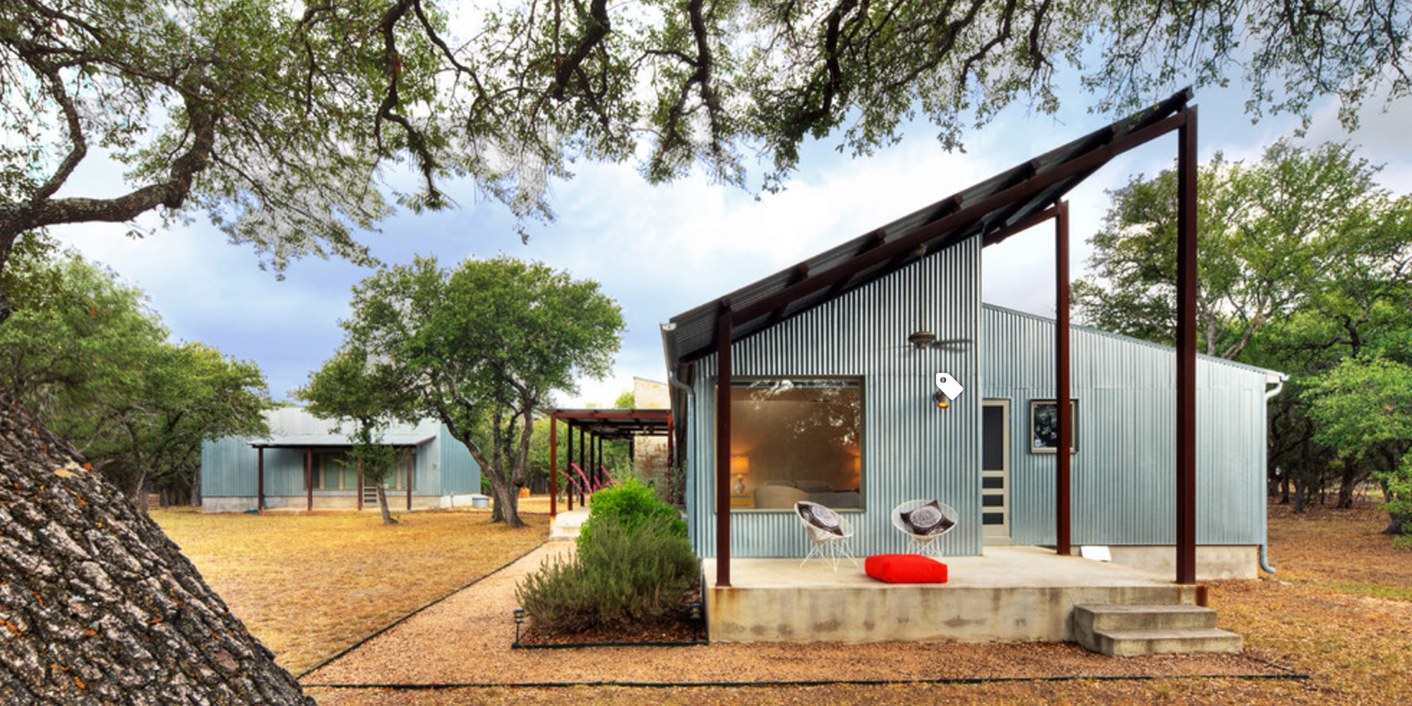 metal home with metal roof