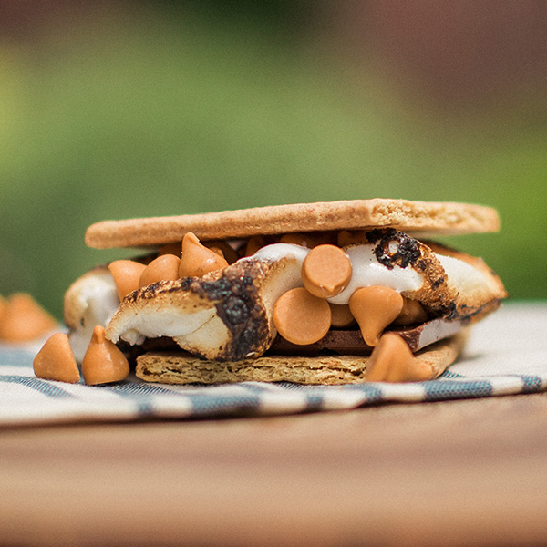 baked butterscotch s'more