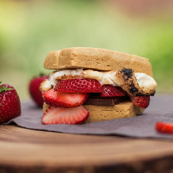 strawberry shortcake s'more