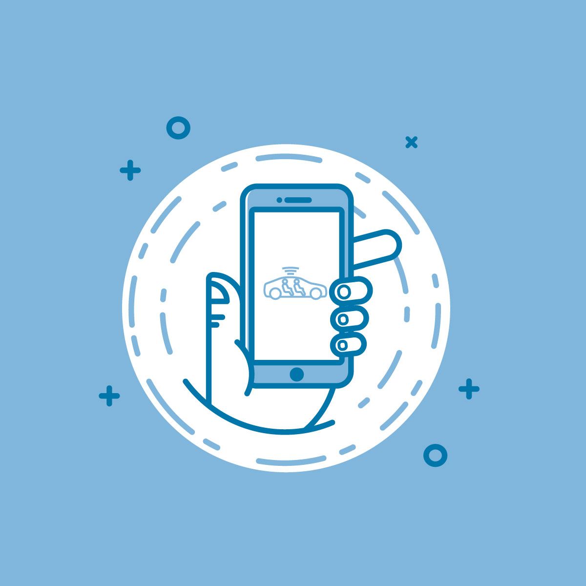 phone in hand illustration