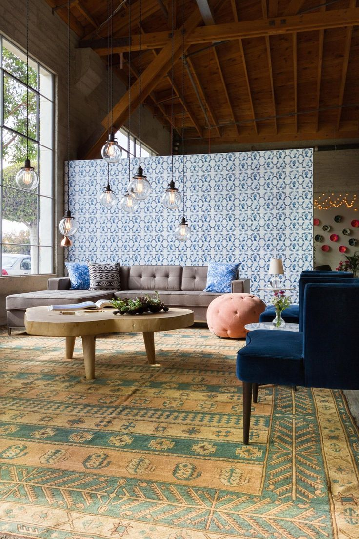 defining space with a rug