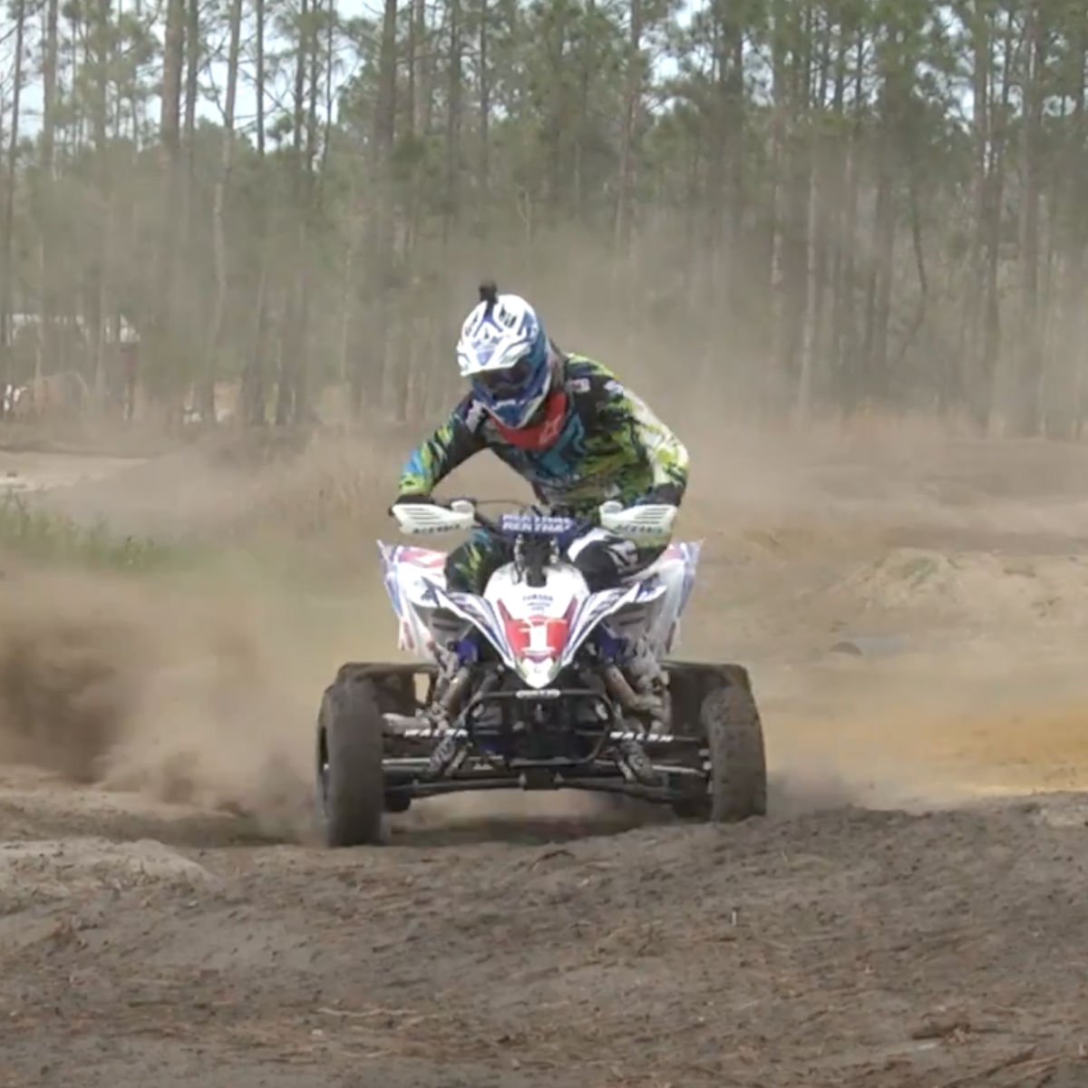ATV riding in dirt