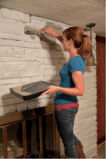 painting a mantle
