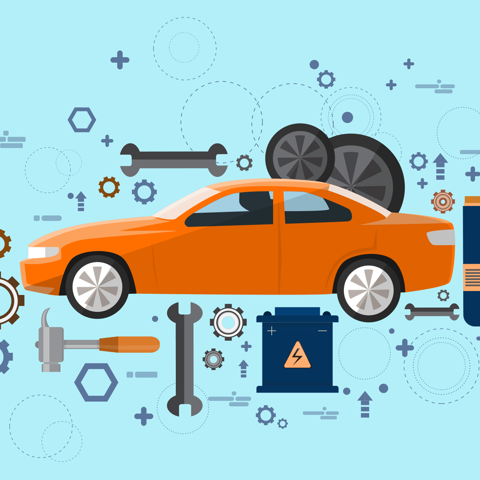 car maintenance illustration