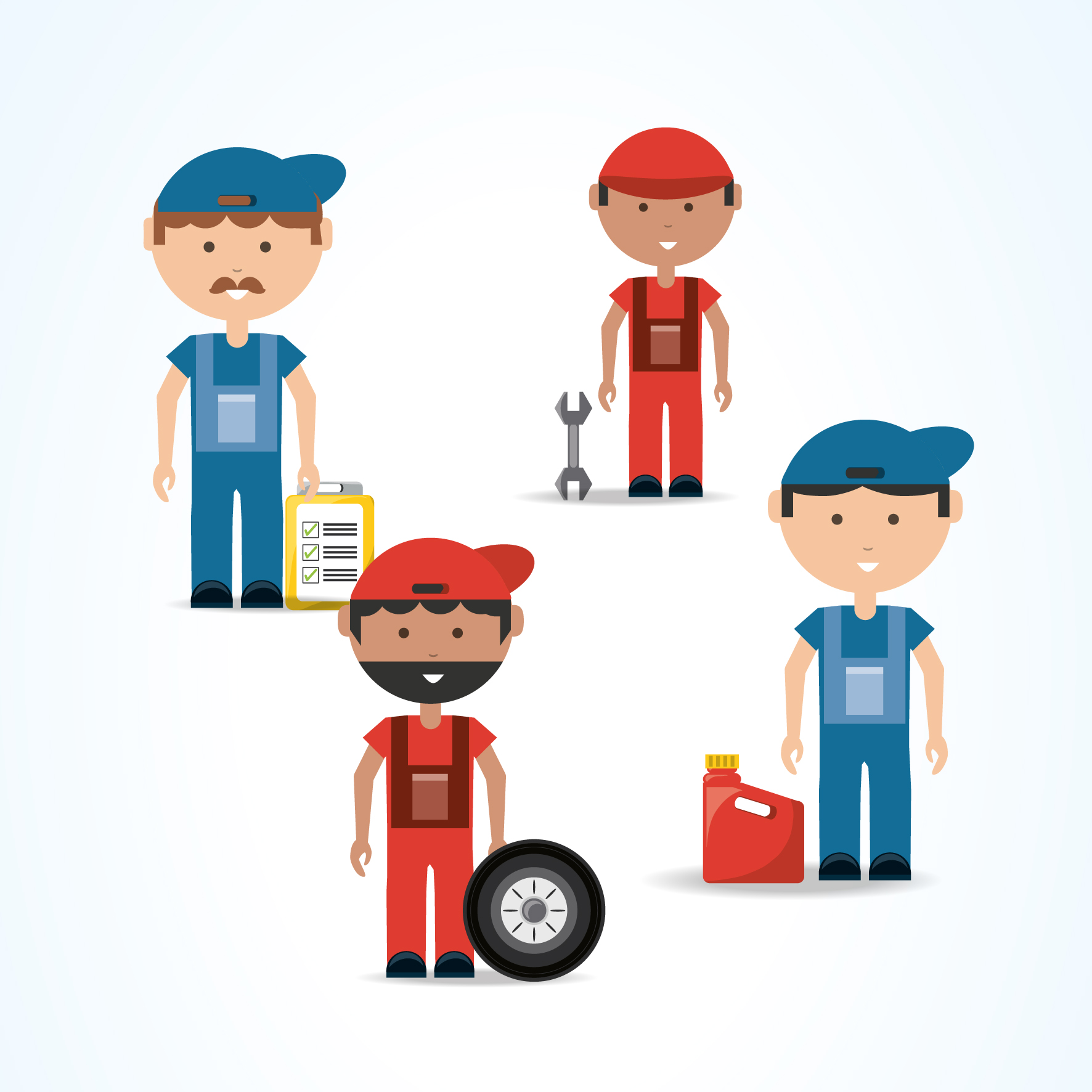 illustration of car mechanics