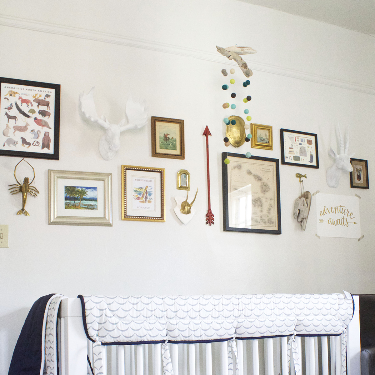gallery wall in nursery