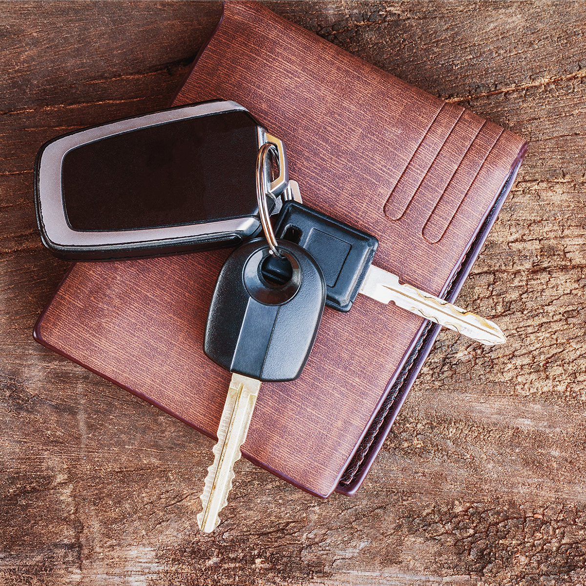 car keys and a wallet