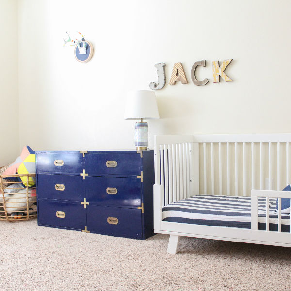 unpacked toddler room