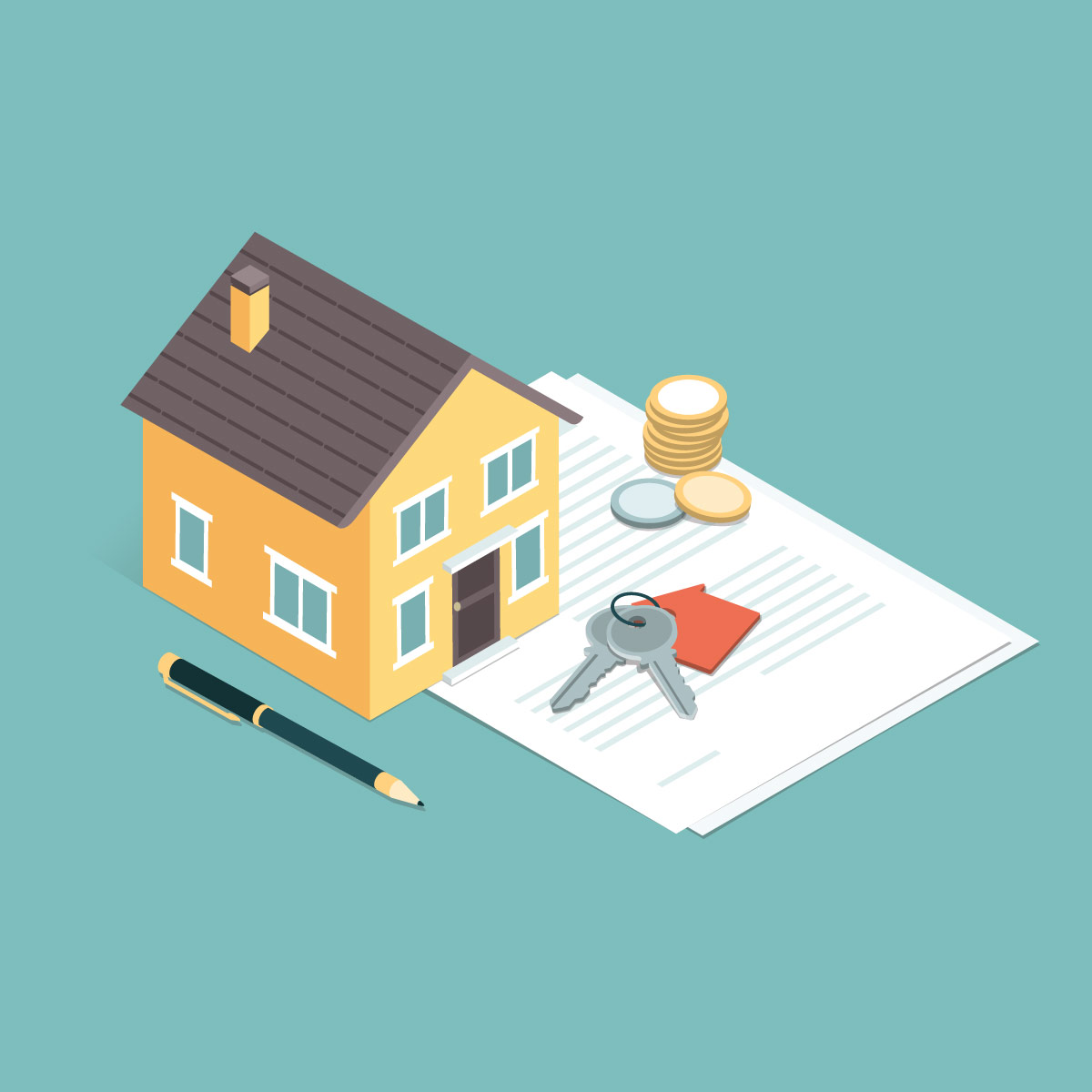 illustration of buying a house