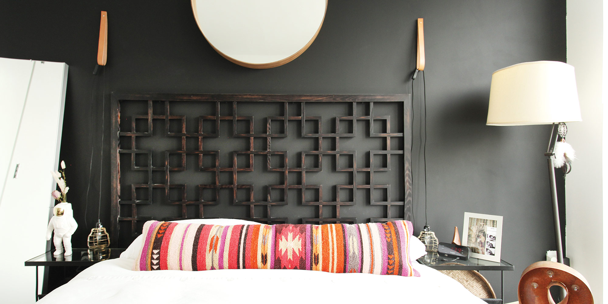 bedrooms with dark paint