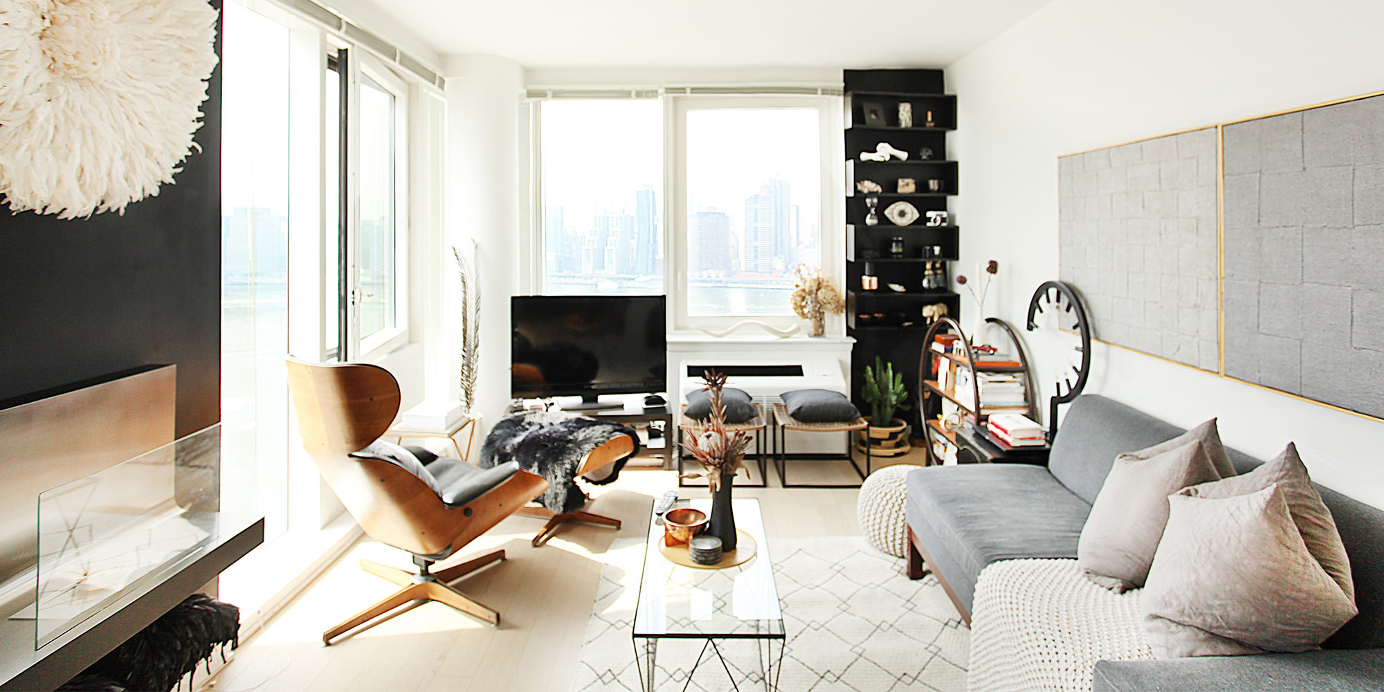 modern decorated living room