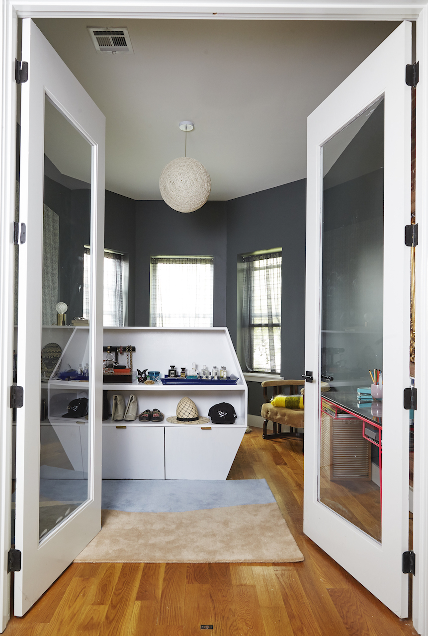 Built-in storage in small apartment